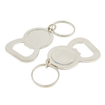 Keyring Blank Bottle Opener 25.4mm and clear dome